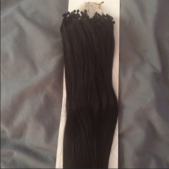 Remy Natural Hair Accessories Micro Loop Remy Hair Extensions 1b